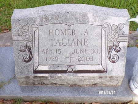FACIANE, HOMER A - St. Tammany County, Louisiana | HOMER A FACIANE - Louisiana Gravestone Photos