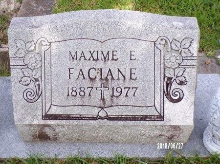 FACIANE, MAXIME EUGENE - St. Tammany County, Louisiana | MAXIME EUGENE FACIANE - Louisiana Gravestone Photos