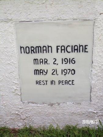 FACIANE, NORMAN (CLOSE UP) - St. Tammany County, Louisiana | NORMAN (CLOSE UP) FACIANE - Louisiana Gravestone Photos