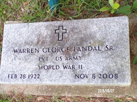 FANDAL, WARREN GEORGE, SR (VETERAN WWII) - St. Tammany County, Louisiana | WARREN GEORGE, SR (VETERAN WWII) FANDAL - Louisiana Gravestone Photos