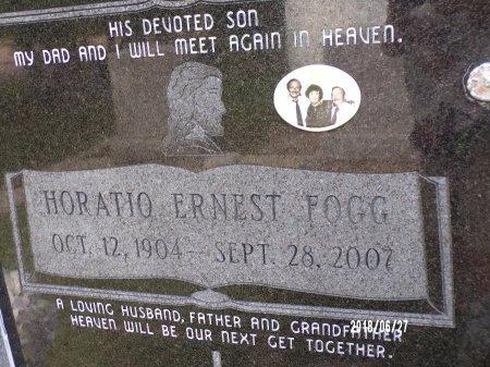 FOGG, HORATIO ERNEST (CLOSE UP) - St. Tammany County, Louisiana | HORATIO ERNEST (CLOSE UP) FOGG - Louisiana Gravestone Photos
