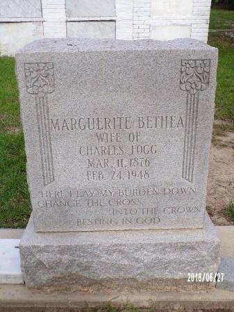 FOGG, MARGUERITE - St. Tammany County, Louisiana | MARGUERITE FOGG - Louisiana Gravestone Photos