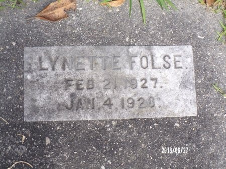 FOLSE, LYNETTE - St. Tammany County, Louisiana | LYNETTE FOLSE - Louisiana Gravestone Photos