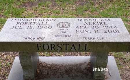 ALKIRE FORSTALL, BONNIE KAY - St. Tammany County, Louisiana | BONNIE KAY ALKIRE FORSTALL - Louisiana Gravestone Photos