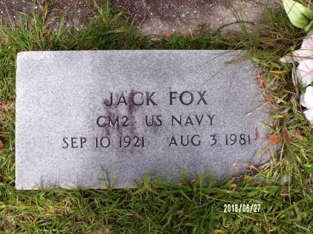 FOX, JACK (VETERAN) - St. Tammany County, Louisiana   JACK (VETERAN) FOX - Louisiana Gravestone Photos