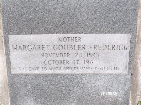 FREDERICK, MARGARET (CLOSE UP) - St. Tammany County, Louisiana | MARGARET (CLOSE UP) FREDERICK - Louisiana Gravestone Photos