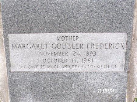 GOUBLER FREDERICK, MARGARET (CLOSE UP) - St. Tammany County, Louisiana | MARGARET (CLOSE UP) GOUBLER FREDERICK - Louisiana Gravestone Photos