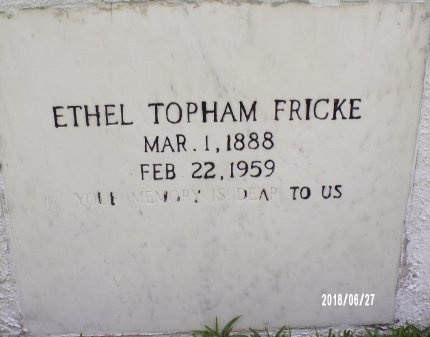 FRICKE, ETHEL (CLOSE UP) - St. Tammany County, Louisiana | ETHEL (CLOSE UP) FRICKE - Louisiana Gravestone Photos