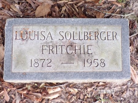 SOLLBERGER FRITCHIE, LOUISA - St. Tammany County, Louisiana | LOUISA SOLLBERGER FRITCHIE - Louisiana Gravestone Photos