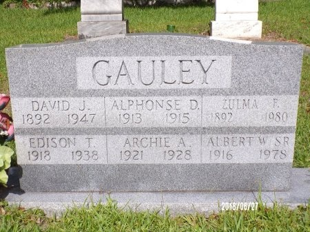 GAULEY, DAVID J - St. Tammany County, Louisiana | DAVID J GAULEY - Louisiana Gravestone Photos
