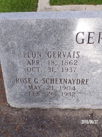 GERVAIS, LEON (CLOSE UP) - St. Tammany County, Louisiana | LEON (CLOSE UP) GERVAIS - Louisiana Gravestone Photos