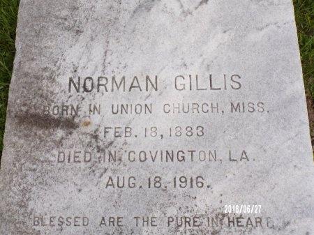 GILLIS, NORMAN - St. Tammany County, Louisiana | NORMAN GILLIS - Louisiana Gravestone Photos