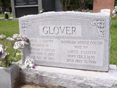 COUSIN GLOVER, MATHILDA LOUISE - St. Tammany County, Louisiana | MATHILDA LOUISE COUSIN GLOVER - Louisiana Gravestone Photos