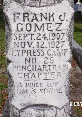 GOMEZ, FRANK J (CLOSE UP) - St. Tammany County, Louisiana   FRANK J (CLOSE UP) GOMEZ - Louisiana Gravestone Photos