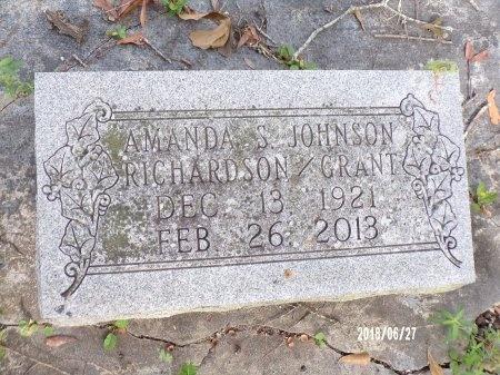JOHNSON RICHARDSON GRANT, AMANDA S - St. Tammany County, Louisiana   AMANDA S JOHNSON RICHARDSON GRANT - Louisiana Gravestone Photos