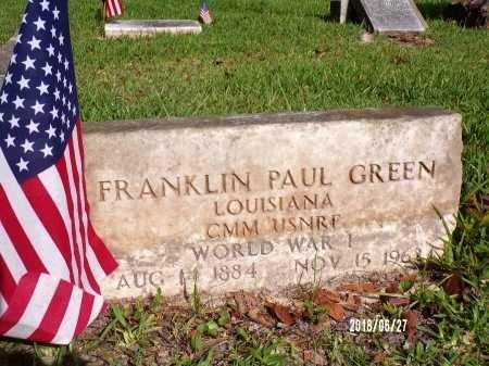GREEN, FRANKLIN PAUL (VETERAN WWI) - St. Tammany County, Louisiana | FRANKLIN PAUL (VETERAN WWI) GREEN - Louisiana Gravestone Photos