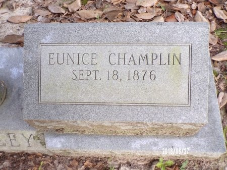 CHAMPLIN HAILEY, EUNICE (CLOSE UP) - St. Tammany County, Louisiana | EUNICE (CLOSE UP) CHAMPLIN HAILEY - Louisiana Gravestone Photos