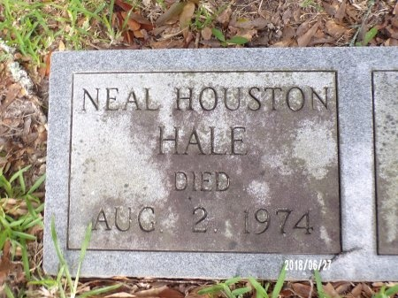 HALE, NEAL HOUSTON (CLOSE UP) - St. Tammany County, Louisiana | NEAL HOUSTON (CLOSE UP) HALE - Louisiana Gravestone Photos