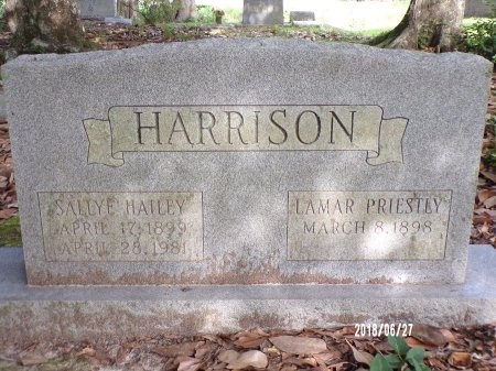 HARRISON, SALLYE - St. Tammany County, Louisiana | SALLYE HARRISON - Louisiana Gravestone Photos