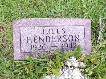 HENDERSON, JULES - St. Tammany County, Louisiana   JULES HENDERSON - Louisiana Gravestone Photos