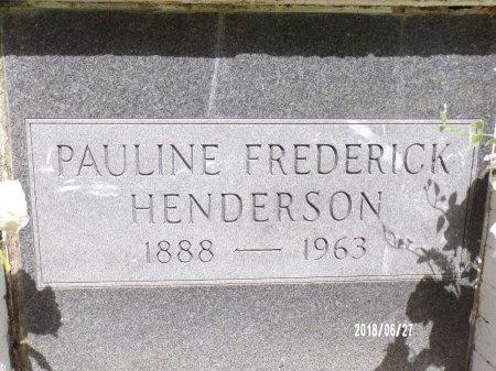 FREDERICK HENDERSON, PAULINE (CLOSE UP) - St. Tammany County, Louisiana | PAULINE (CLOSE UP) FREDERICK HENDERSON - Louisiana Gravestone Photos