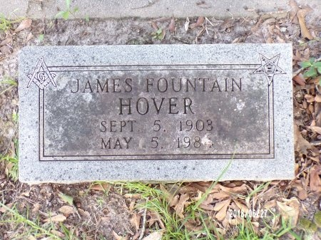 HOVER, JAMES FOUNTAIN - St. Tammany County, Louisiana | JAMES FOUNTAIN HOVER - Louisiana Gravestone Photos