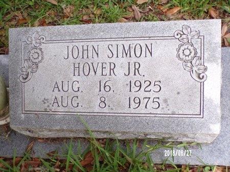 HOVER, JOHN SIMON, JR (CLOSE UP) - St. Tammany County, Louisiana   JOHN SIMON, JR (CLOSE UP) HOVER - Louisiana Gravestone Photos
