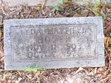 MAYFIELD HOVER, LEDA - St. Tammany County, Louisiana | LEDA MAYFIELD HOVER - Louisiana Gravestone Photos