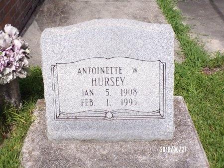 WINTERS HURSEY, ANTOINETTE - St. Tammany County, Louisiana | ANTOINETTE WINTERS HURSEY - Louisiana Gravestone Photos