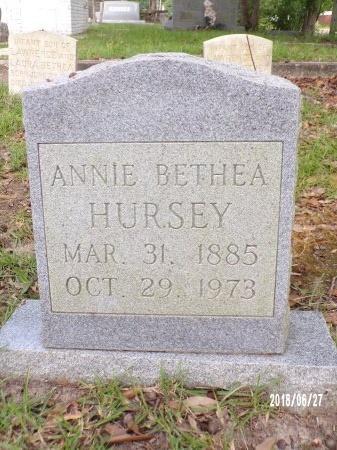 HURSEY, ANNIE - St. Tammany County, Louisiana | ANNIE HURSEY - Louisiana Gravestone Photos