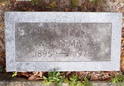 KAUFFMAN, JENNY ROSE - St. Tammany County, Louisiana | JENNY ROSE KAUFFMAN - Louisiana Gravestone Photos