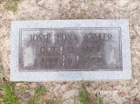 KELLER, JOSIE EDNA - St. Tammany County, Louisiana | JOSIE EDNA KELLER - Louisiana Gravestone Photos