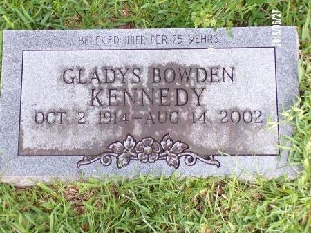 BOWDEN KENNEDY, GLADYS - St. Tammany County, Louisiana   GLADYS BOWDEN KENNEDY - Louisiana Gravestone Photos