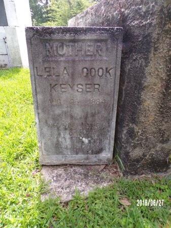 COOK KEYSER, LELA - St. Tammany County, Louisiana | LELA COOK KEYSER - Louisiana Gravestone Photos