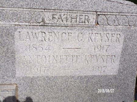 KEYSER, ANTOINETTE (CLOSE UP) - St. Tammany County, Louisiana | ANTOINETTE (CLOSE UP) KEYSER - Louisiana Gravestone Photos