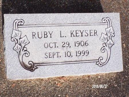 KEYSER, RUBY L - St. Tammany County, Louisiana | RUBY L KEYSER - Louisiana Gravestone Photos