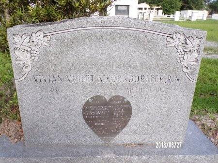 KORNDORFFER, VIVIAN VIOLET S - St. Tammany County, Louisiana | VIVIAN VIOLET S KORNDORFFER - Louisiana Gravestone Photos
