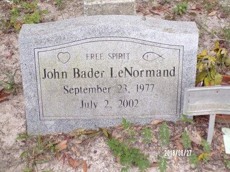 LENORMAND, JOHN BADER - St. Tammany County, Louisiana | JOHN BADER LENORMAND - Louisiana Gravestone Photos