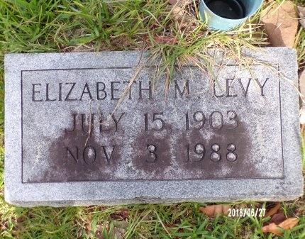 MORRIS LEVY, ELIZABETH  - St. Tammany County, Louisiana | ELIZABETH  MORRIS LEVY - Louisiana Gravestone Photos