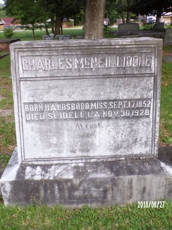 LIDDLE, CHARLES MCNEIL - St. Tammany County, Louisiana | CHARLES MCNEIL LIDDLE - Louisiana Gravestone Photos