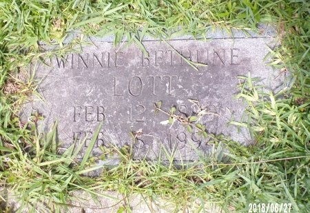 BETHUNE LOTT, WINNIE - St. Tammany County, Louisiana | WINNIE BETHUNE LOTT - Louisiana Gravestone Photos