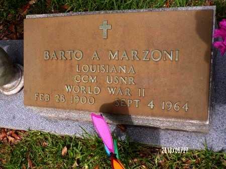 MARZONI, BARTO A (VETERAN WWII) - St. Tammany County, Louisiana | BARTO A (VETERAN WWII) MARZONI - Louisiana Gravestone Photos
