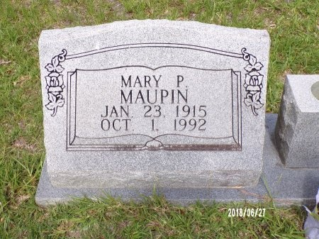 ELLISON MAUPIN, MARY P - St. Tammany County, Louisiana | MARY P ELLISON MAUPIN - Louisiana Gravestone Photos