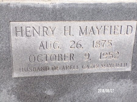 MAYFIELD, HENRY H (CLOSE UP) - St. Tammany County, Louisiana | HENRY H (CLOSE UP) MAYFIELD - Louisiana Gravestone Photos