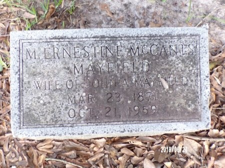 MCCANTS MAYFIELD, MARIA ERNESTINE - St. Tammany County, Louisiana | MARIA ERNESTINE MCCANTS MAYFIELD - Louisiana Gravestone Photos