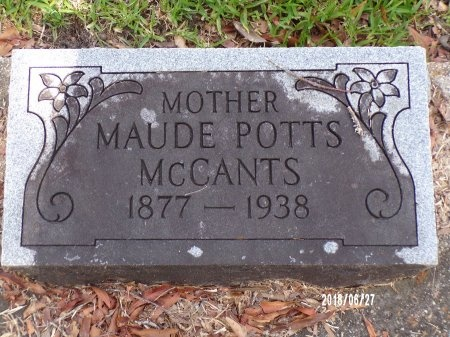 MCCANTS, MAUDE - St. Tammany County, Louisiana | MAUDE MCCANTS - Louisiana Gravestone Photos