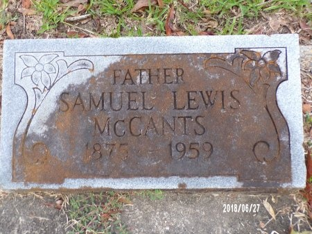 MCCANTS, SAMUEL LEWIS - St. Tammany County, Louisiana | SAMUEL LEWIS MCCANTS - Louisiana Gravestone Photos