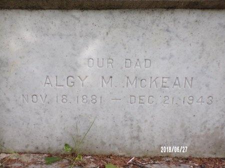 MCKEAN, ALGY M - St. Tammany County, Louisiana   ALGY M MCKEAN - Louisiana Gravestone Photos