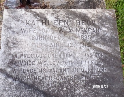 MCKEAN, KATHLEEN (CLOSE UP) - St. Tammany County, Louisiana | KATHLEEN (CLOSE UP) MCKEAN - Louisiana Gravestone Photos