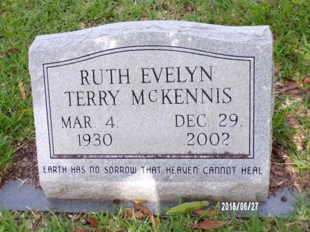 TERRY MCKENNIS, RUTH EVELYN - St. Tammany County, Louisiana | RUTH EVELYN TERRY MCKENNIS - Louisiana Gravestone Photos